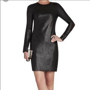 Brand new BCBG leather dress!